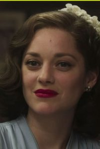 Marion Cotillard in Allied wearing a wig made by Ray Marston Wig Studio